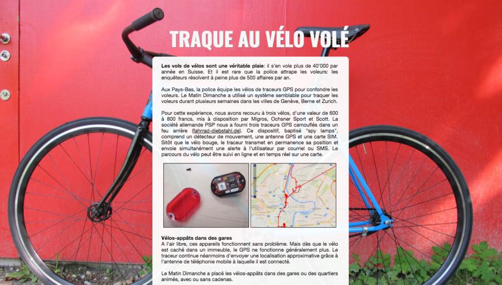 Traque au vélo volé - l'expérience de Dimanche Matin en Suisse